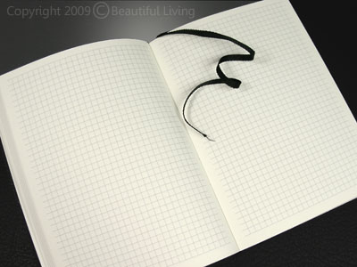 The Ciak Squared Journal has heavy, acid-free paper that is pen friendly. The grid measures 6 squares per inch